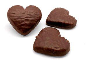 Corazones bañados en Chocolate por San Valentín